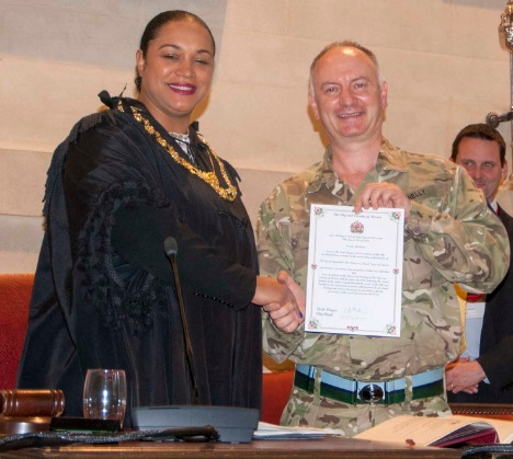 Horfield's 39 signal regiment receives freedom of the City of Bristol