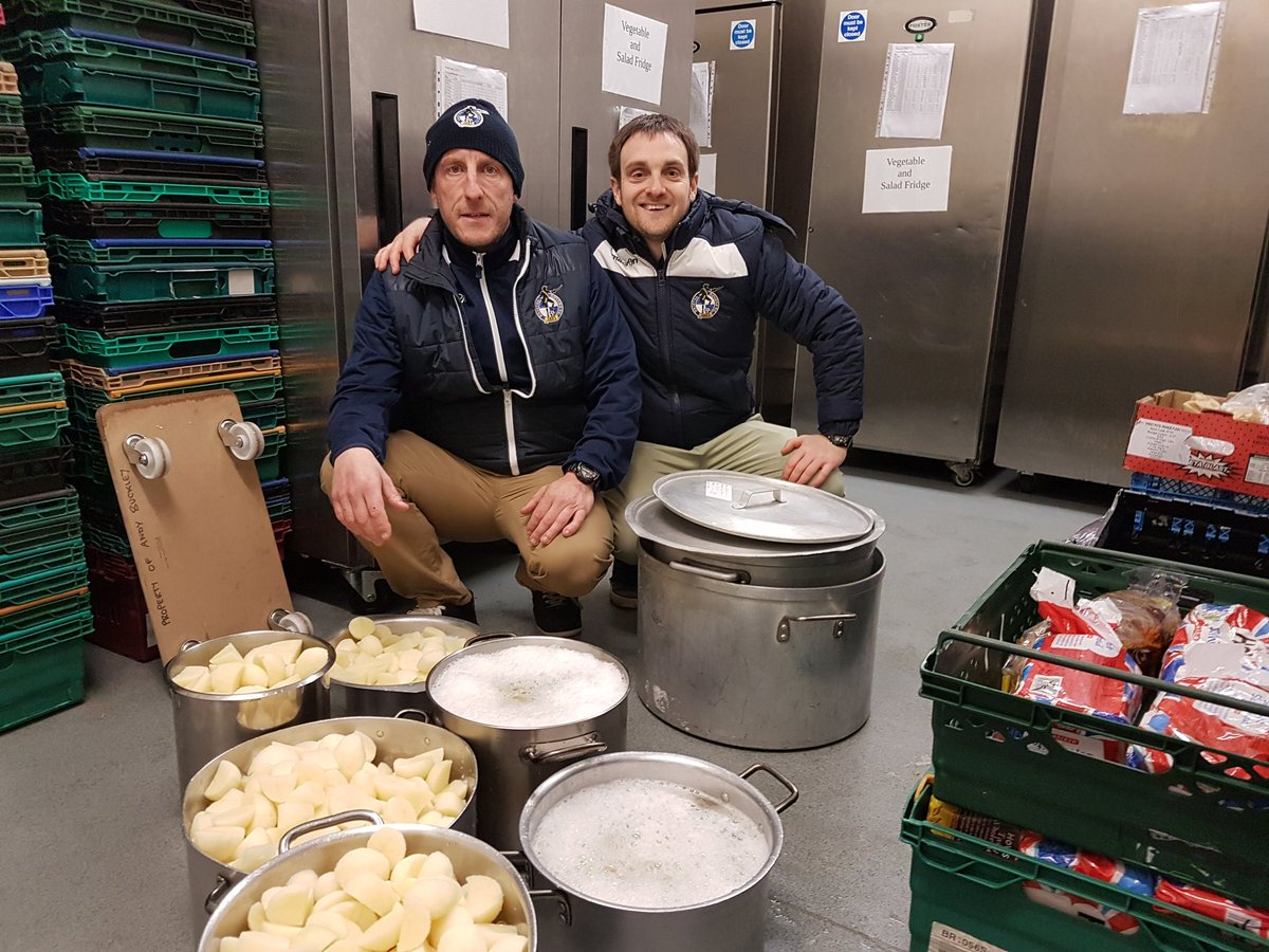 Rovers donate unused food to homeless drop-in centre