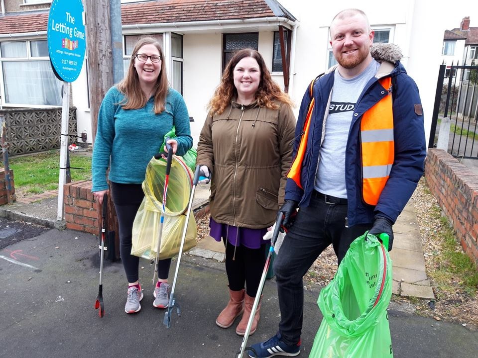 Litter pickers tidying up our community