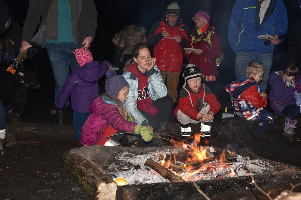 Christmas around the camp-fire